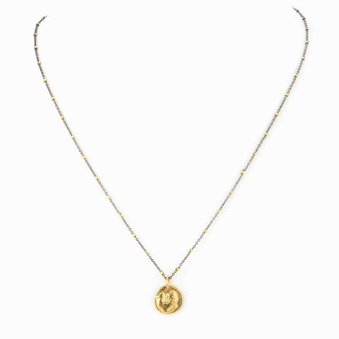 Aquila Necklace with Gold Charm