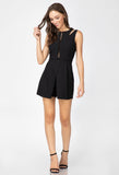 Ashland Skort Romper In Black
