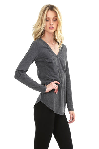 Sophie Long Sleeve Pocket Tee