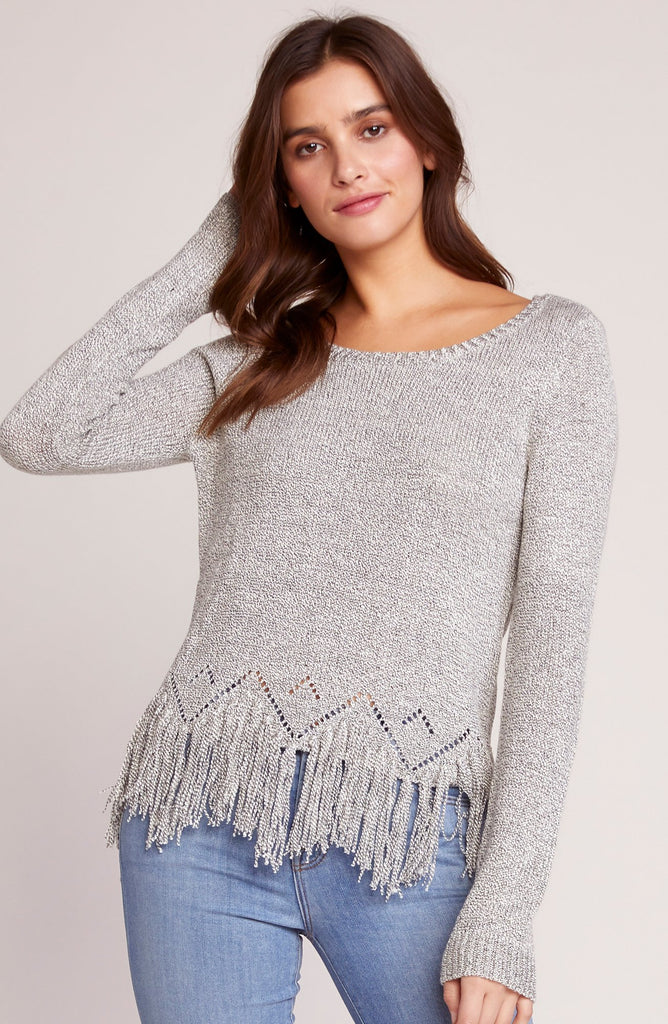 Hang Loose Fringed Sweater