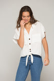 Band Of Gypsies Kristin Button-Down Top