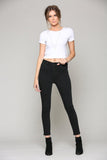 Taylor Black Wash Skinny Jeans with Exposed Buttons