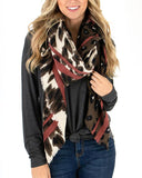 Border Print Scarf by Grace & Lace, Mixed Leopard