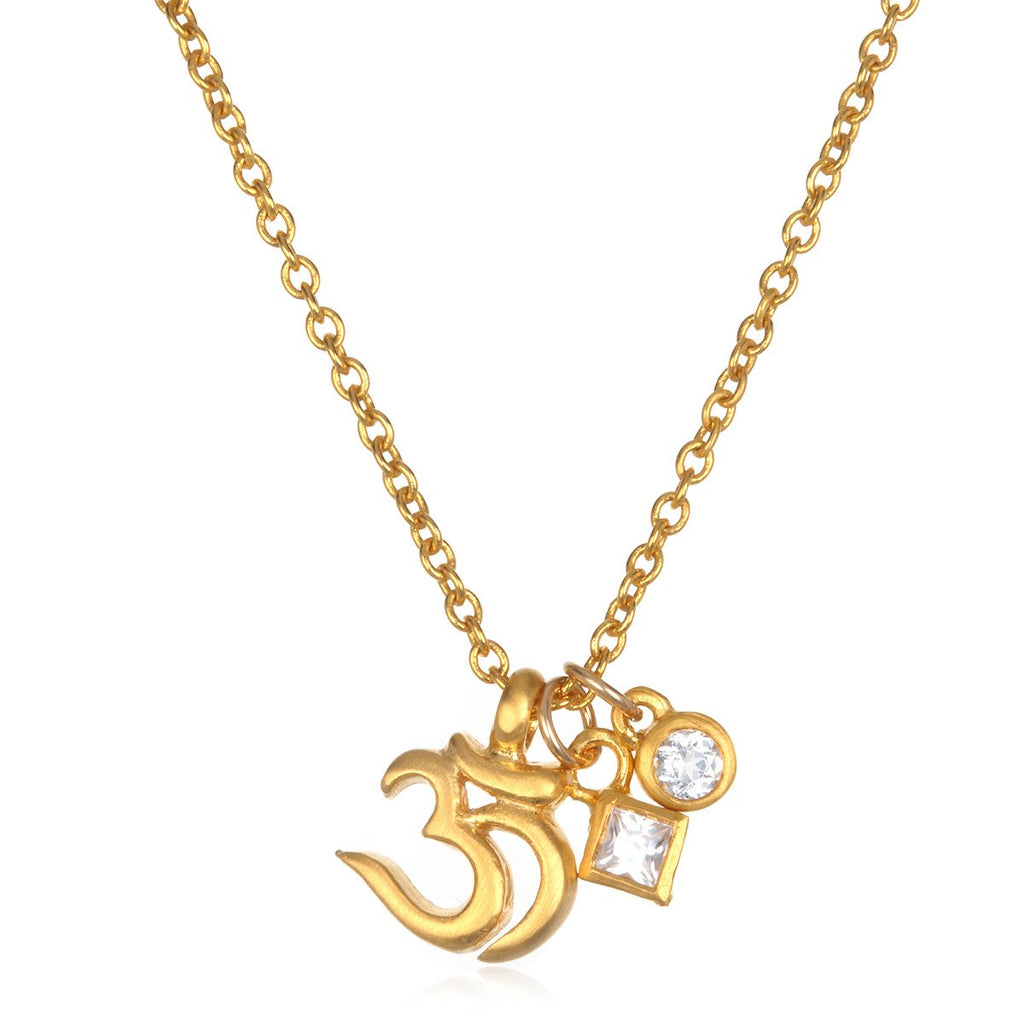 'Salient Light' Om Necklace