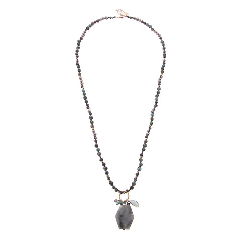 Nakamol Cadence Necklace In Light Blue & Grey