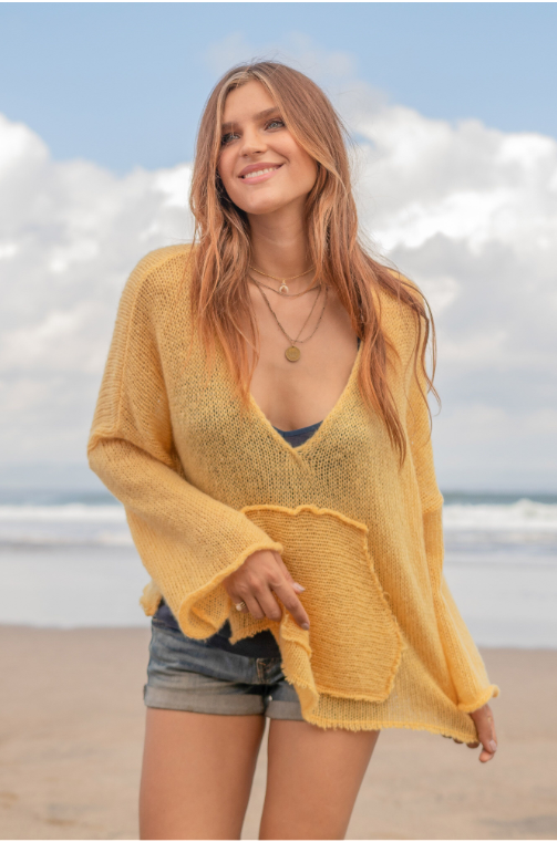 Nomad Sweater In Cornsilk Yellow