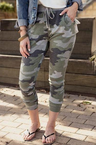 Camo Joggers By Grace & Lace