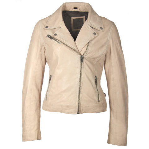 Christy Leather Jacket In Pale Pink