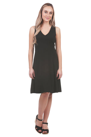 Joliet A-Line Dress, Black