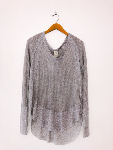 Free People 'Catalina' Thermal Top In Grey