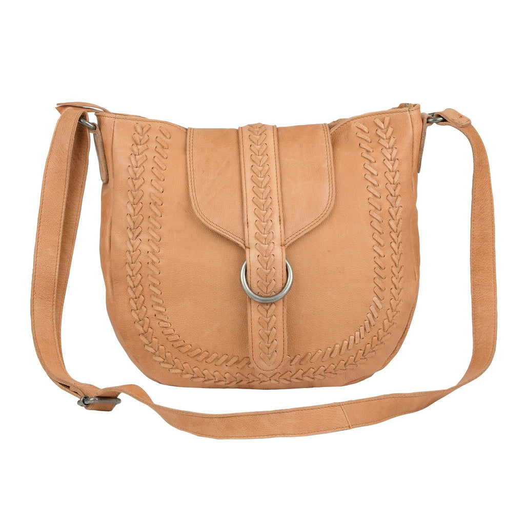Asher Crossbody – Tan / Black