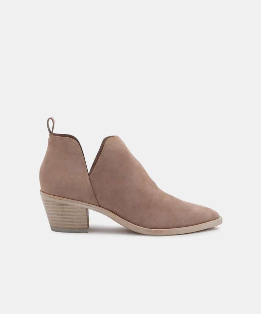 Sonni Almond Suede Booties