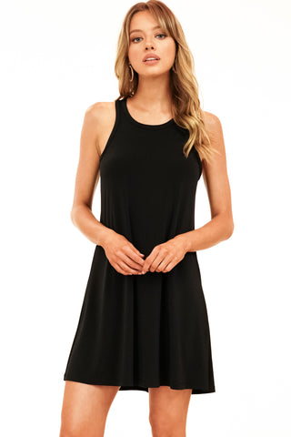 Veronica M Regina Racerback Swing Dress In Blackity