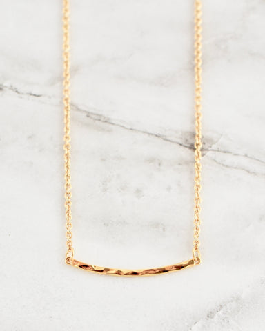 Marley Textured Bar Necklace
