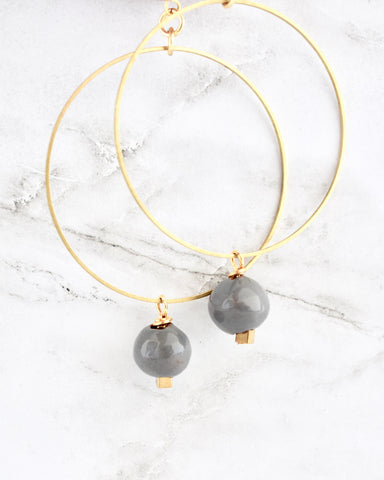 Eleena II Earrings in Grey