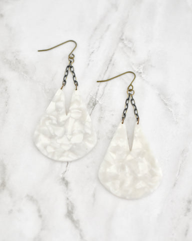 Edee Mother Of Pearl Earrings