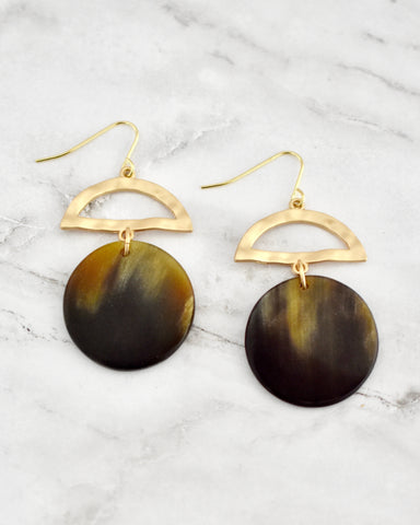 Enid Earrings, Dark