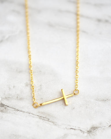 Celia Necklace, Cross