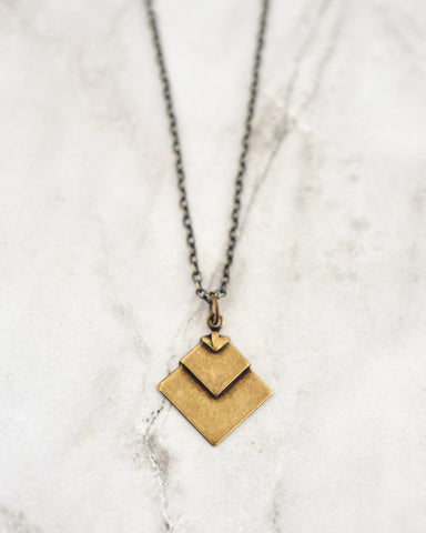 Hazel Necklace, Chevron Diamond