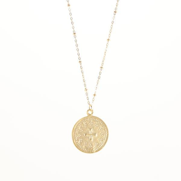 BB Lila Gold Doubloon Necklace