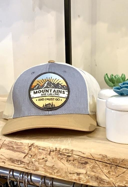'Mountains Are Calling' Trucker hat