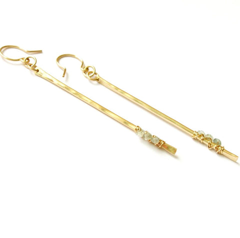 Pixie Sticks Earrings In Gold