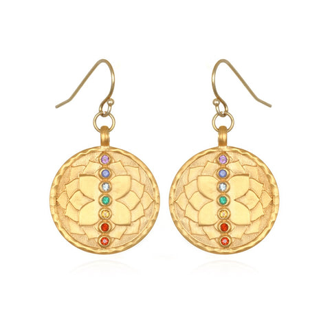 Divine Alignment Chakra Earrings