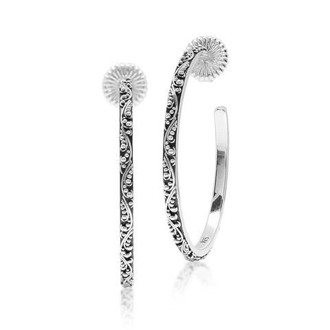 Lois Hill Granulated Hoop Earrings