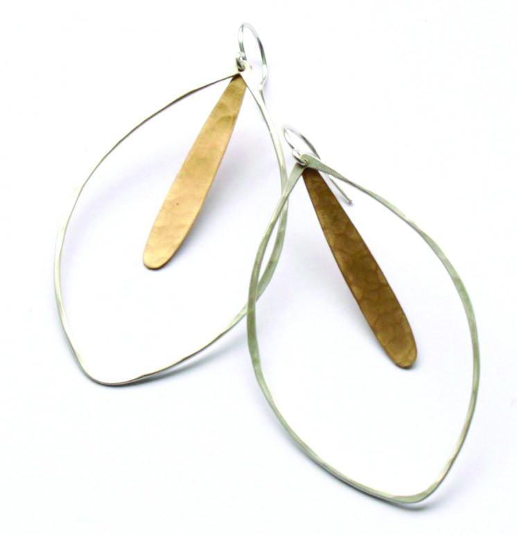 Honey Feather Earrings
