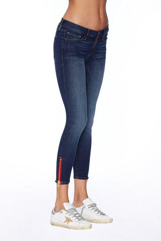 Etienne Marcel Denim Naomi Skinny Crop Jeans With Zipper Accent