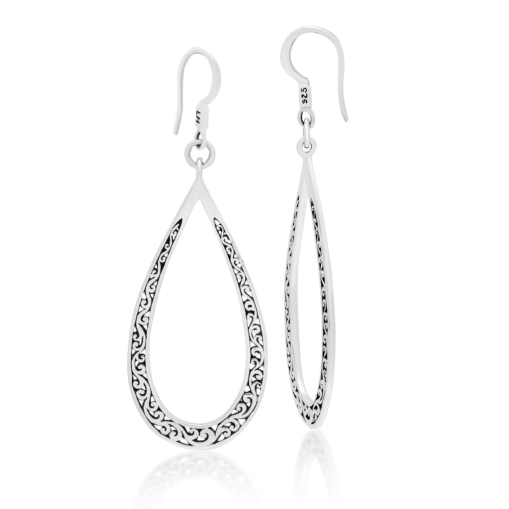 Lois Hill Scroll Teardrop Earrings