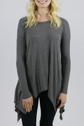 Grace & Lace Everyday Favorite Ribbed Long Sleeve Tee