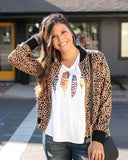 Perfect V-Neck Graphic Tee by Grace & Lace, Fall Feathers