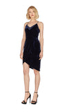 Farah Velvet Tulip Sheath Dress In Navy