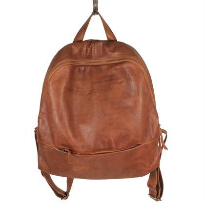 Fletcher Leather Backpack in Cognac