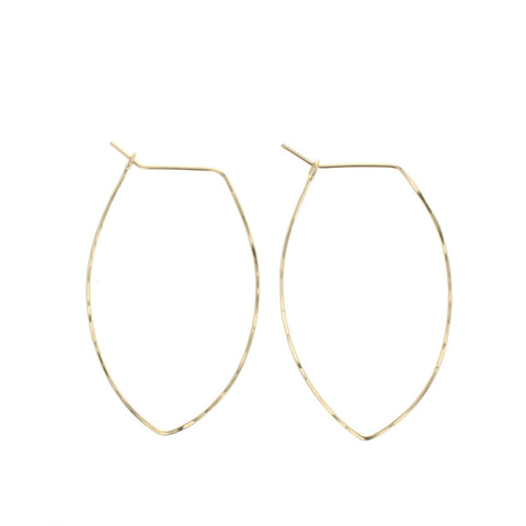 Lotus Jewelry Gold Petal Hoop Earrings