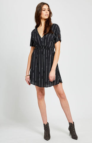 Gentle Fawn Jewel Ladder Striped Short Dress