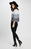 Nino Pullover in Grey Stripe