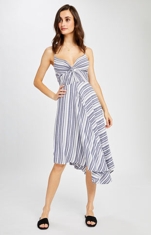 Mischa Dress in Navy Spring Stripe