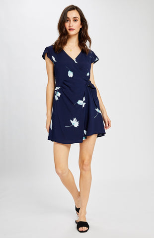 Elisa Dress in Navy Floral