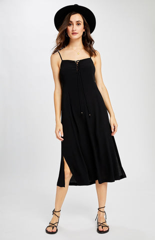 Clyde Midi Dress, Black