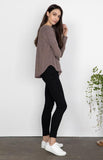 Moore Top In Rose Taupe