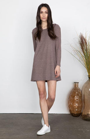 Caro Dress In Rose Taupe