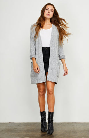 Berlin Cardigan, Heather Grey