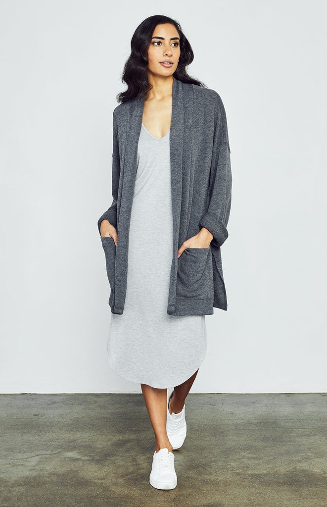 Anderson Cardigan, Heather Charcoal