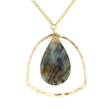 Zoe Labradorite Pendant Necklace