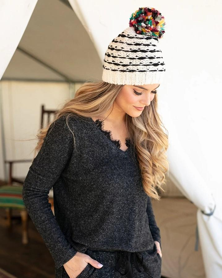 Grace & Lace Snow Day Sweater - Heathered Gray