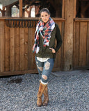 Grace & Lace Pocket Poncho Scarf - Holiday Cheer