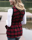 Winter Plaid Vest by Grace & Lace, Red/Black
