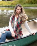 Grace & Lace Winter Plaid Vest in Tartan Plaid